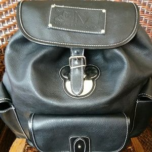 Disneys Mickey Mouse Leather Backpack
